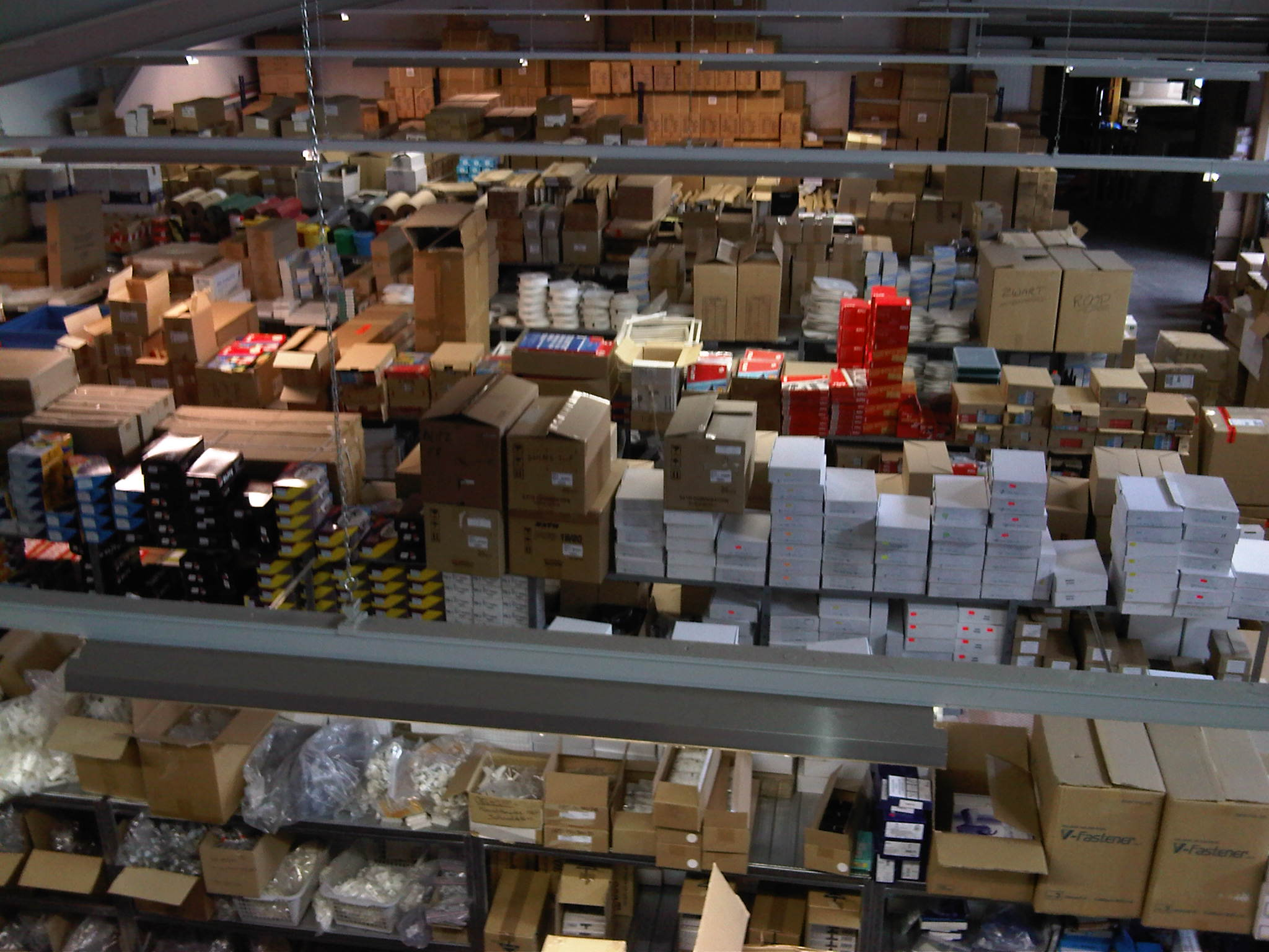 magazijn van bovenaf